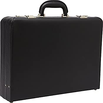 """Heritage Travelware Vinyl Single Compartment 17.3"""" Laptop Case with Secure Combination Lock Briefcase Black One Size"""