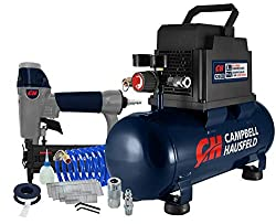 cheap Campbell Housefeld 3 Gallon Portable Air Compressor with Nailer and Connector Kit (DC030097E)