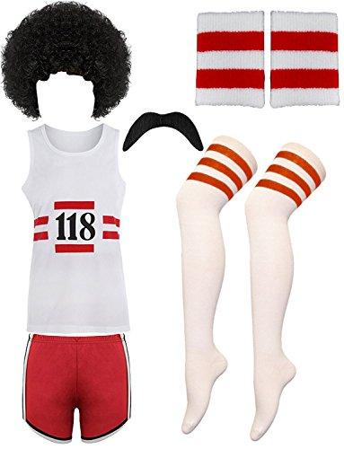 Glossy Look 118 DÉGUISEMENT ANNUAIRE Demande DE RENSEIGNEMENTS Homme Femme Enterrement Vie Jeune Fille Enterrement DE Vie DE GARÇON Marathon Costume RÉTRO - 118 Hommes Set, Large