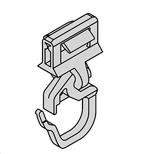 Gardinen Clic-Gleiter mit Faltenhaken kurz HINNO HC 91, für Gardinenschienen aus Holz BZW. Kunststoff