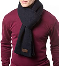 Gallery Seven Winter Scarf for Men, Soft Knit Scarves, in an Elegant Gift Box - Navy/Black - One Size
