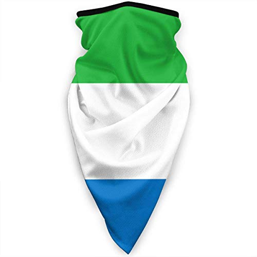 Mathillda vlag van Sierra Leone Gezichtsmasker Hals Gamaschen Bandana sjaal bivakmuts Multifunctionele hoofddeksel