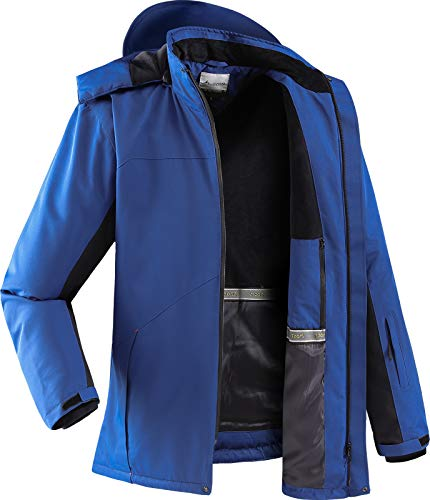 Vzteek ski Jacke Herren Snowboardjacke funktions Hardshell Jacke für Winter wasserdichte Herren(Blau,M)