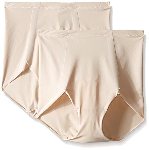 Maidenform Damen Panties Sleek Smoothers, 2 Pack Briefs, Pink (Nude 108), 40