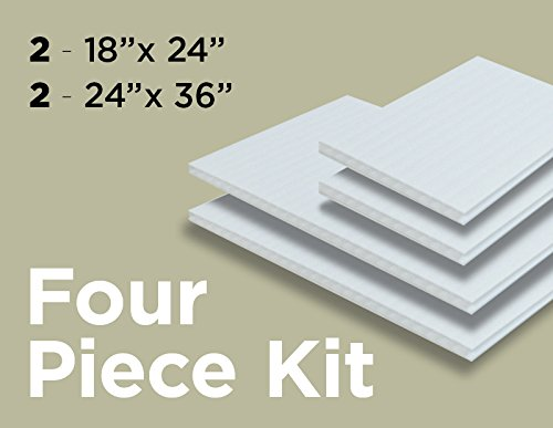 "Coroplast for guinea pig cage - 2 pcs 24"" x 36"" & 2 pcs 18"" x 24"". Use with oxbow guinea pig habitat & kaytee guinea pig habitat. Under fleece bedding for guinea pigs or kaytee guinea pig bed."
