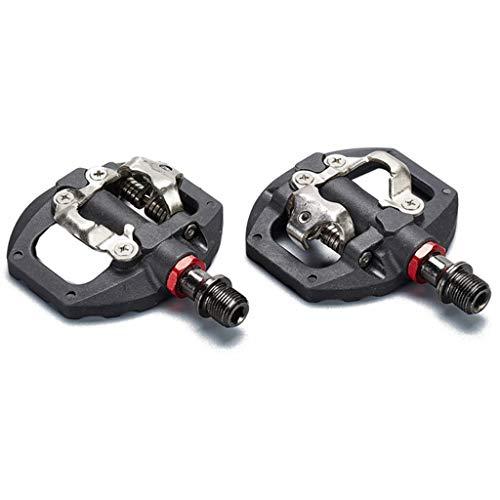 QUYUAN Pedal MTB Pedales Automáticos SPD Compatible MTB Bicicleta de la Fibra...