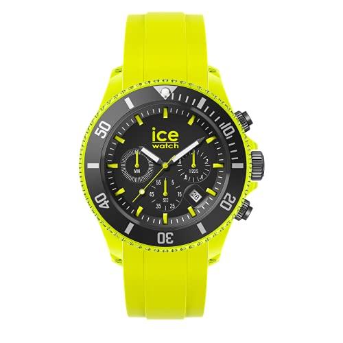 Ice-Watch Ice Chrono Neon Yellow, Reloj Amarillo para Hombre con Correa de Silicona, Chrono, 019843, Extra Large