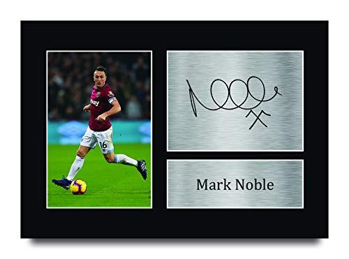 HWC Trading Mark Noble A4 Ungerahmt Signiert Gedruckt Autogramme Bild Druck-Fotoanzeige Geschenk Für West Ham United Fußball Fans