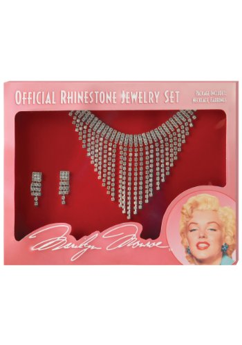 California Costumes Women's Marilyn Jewelry Set, Silver, One Size