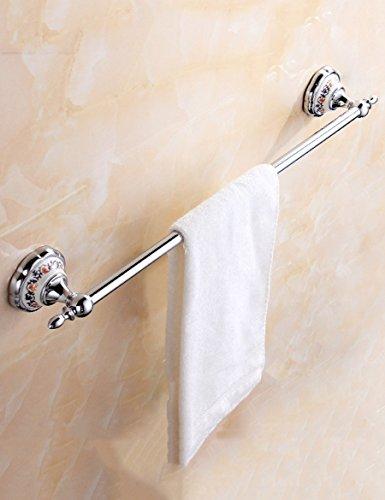 Barre à serviette en acier inoxydable Porte-serviette en cuivre intégral Salle de bain Chrome Porte-serviettes en une seule couche avec serviette supplémentaire Assurant la qualité et la longévité.