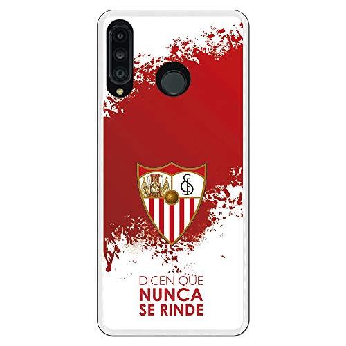 Funda para Huawei P30 Lite Oficial del Sevilla FC Sevilla Dicen Que Nunca se Rinde para Proteger tu móvil. Carcasa para Huawei de Silicona Flexible con Licencia Oficial del Sevilla FC.