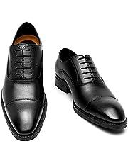 [Poerkan] ビジネスシューズ メンズ 防水高級レザー 内羽根 ドレスシューズ ストレートチップ 紳士靴 ロングノーズ 革靴 24.5cm~28.5cm