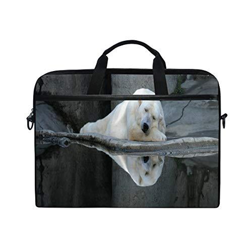 FOURFOOL 15-15.6 Inch Bolsa de Ordenador,Oso Dormir Calma Zoo Animal Print,Nuevo Patrón de impresión...