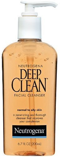 Neutrogena Deep Clean Daily Facial Cleanser with Beta Hydroxy Acid for Normal to Oily Skin, Alcohol-Free, Oil-Free & Non-Comedogenic, 6.7 fl. oz (Pack of 3)