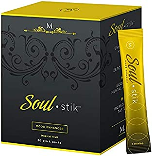 Soul Stik, Low-Calorie Mood Elevation, Anxiety Relief, Tropical Fruit, Electrolyte Hydration Beverage, 30 Servings