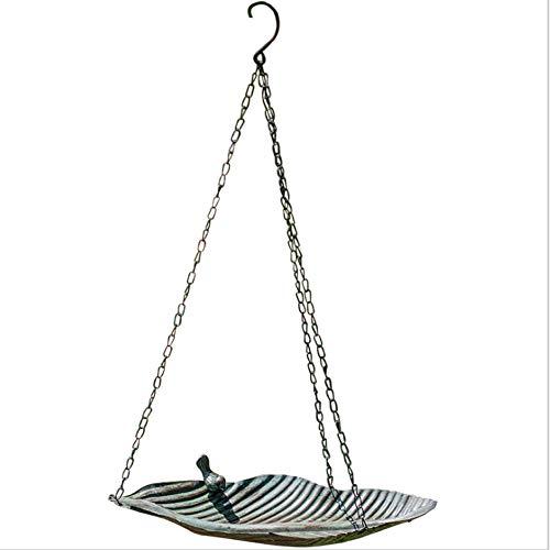 Comederos para pájaros Flor del alimentador de aves de la bandeja de la bandeja de la bandeja del vintage de hierro forjado para el al aire libre de la decoración de jardín de pájaros pequeño