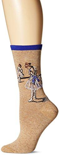 Hot Sox Women's Artist Series Crew Socks | Degas Study Dancer, Royal, Shoe Size: 4-10