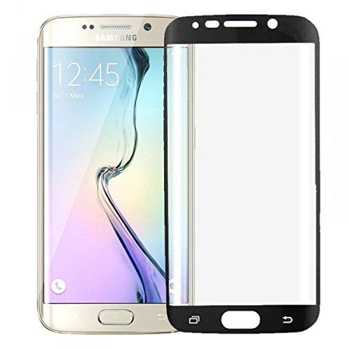 Wigento Hybrid TPU Gebogene Panzerfolie Schwarz Folie für Samsung Galaxy S6 Edge G925 F Neu Vollschutz um die Ecken