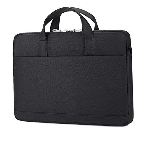 """Cicilin Bolsa para laptop de 13, 14 ou 15,6 polegadas, bolsa tipo carteiro com alça de ombro, Macio, Preto, 15.6"""""""