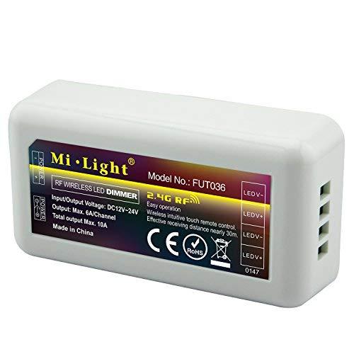 LIGHTEU, Milight Miboxer 2,4 GHz LED Einfarbiger Controller WiFi Fernbedienung Helligkeit dimmbar, fut036