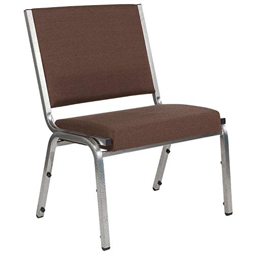 Flash Furniture HERCULES Series 1500 lb. Rated Brown Antimicrobial Fabric Bariatric Medical Reception Chair