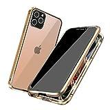 WezYon Coque Magnétique Anti Espion pour iPhone 12/12 Pro, Double Face Housse Intégrale 360...