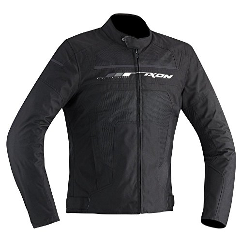 Ixon Helios - Chaqueta de moto para hombre, color negro/gris, talla L