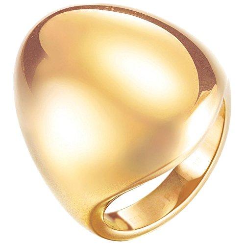 Esprit Fashion Damen-Ring ES-PROMINENT GOLD Edelstahl rhodiniert Gr. 60 (19.1) - ESRG12810B190