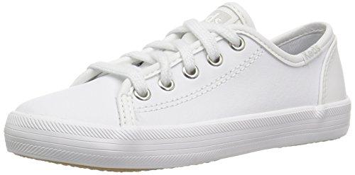 Keds Girl's Kickstart Core Sneaker, White, 1.5 Big Kid