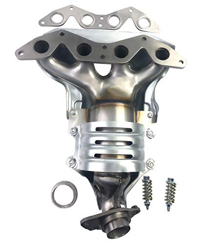 Exerock Manifold with Integrated Catalytic Converter Fit for 2001-2005 Honda civic DX EX LX GX HX 1.7L, 2002-2005 Honda civic SI model 1.7L, 2004 2005 Honda civic Value Package 1.7L, 2005 Hond 674-608