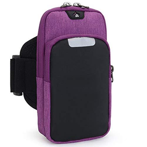 WWW Sporttas in sportvorm, 9 × 18 cm, rug van ademende stof, hoogwaardig, waterdicht, met gat voor koptelefoon, sporttas