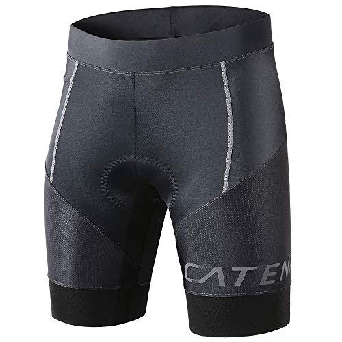 CATENA Uomo Pantaloncini da Ciclismo con 3D Imbottiti Compressivo Traspiranti Pantaloni per Ciclista MTB Equitazione Sportivi Fitness
