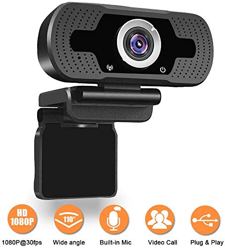 1080P Webcam, NP HD PC Webcam USB Mini Computer Camera Built-in Microphone - USB Web Camera for Live Streaming, Video Calling and Recording - Computer PC Desktop Laptop with 110° Wide View Angle A-A1