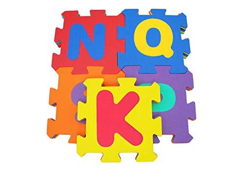 Bieco Puzzlematte, 59 tlg. | Spielmatte Baby | XXL Puzzle Kinder | Krabbeldecke Baby Spielmatte Kinder| Turnmatte Kinder | Kinder Teppiche | Krabbelmatte Baby | Buchstaben Lernen | Spielteppich Junge