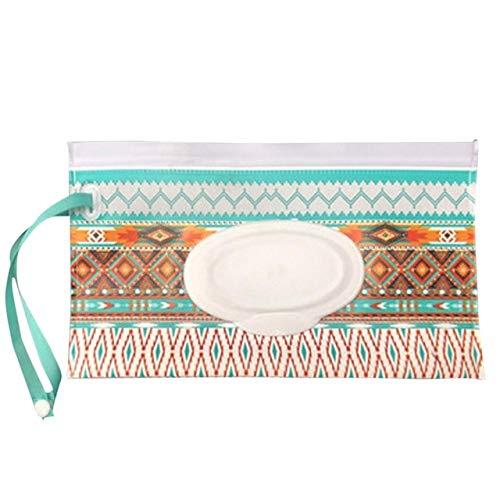 PINGGUO New House Wipes Box Clamshell Cosmetic Pochet Wet Wipe Bag - Toallitas limpias, bolsa de embalaje portátil extraíble