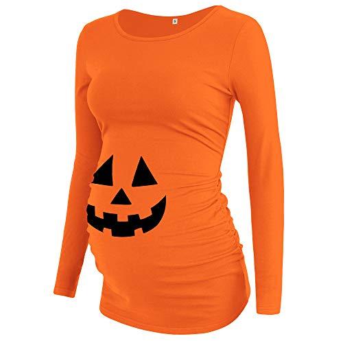 AMPOSH Womens Maternity Shirts Ruched Short//Long Sleeve Tops Basic Pregnancy T-Shirt Clothes