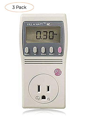 P3 International P4460 Kill A Watt EZ Electricity Usage Monitor (Three Pack, grey)