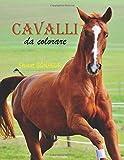 Cavalli da Colorare: 35 disegni realistici di colorare i cavalli per adulti e bambini ; Re...