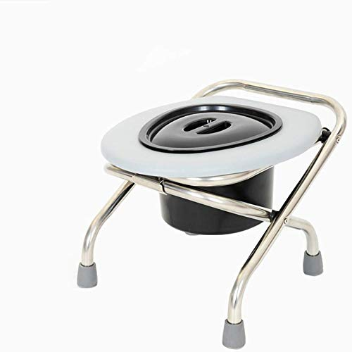 Commode Chair Folding, bedroom seat, built-in toilet, incontinence chair, lightly removable, non-slip blue stainless steel toilet, shower chair, toilet stool ((load 397lb))