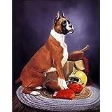 Greatminer Kit de peinture à faire soi-même pour adultes, enfants, décoration de la maison, du bureau, cadeaux pour lui, son chien et son rugby 30 x 39,9 cm
