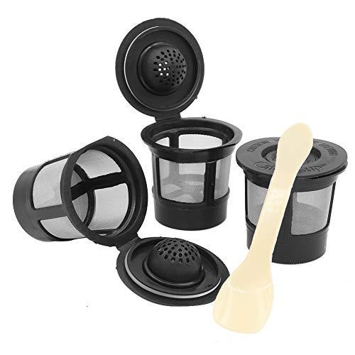 Negro Paquete De 2 Prenine Caf/é C/áPsulas Cup para K Cup Malla De Acero Inoxidable Recargable para Keurig 2.0 Accesorios para M/áQuinas De Caf/é I Cafilas con Cuchara