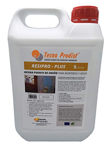 RESINA PUENTE DE UNIÓN de Tecno Prodist - (5 Litros) Adhesivo al agua,...