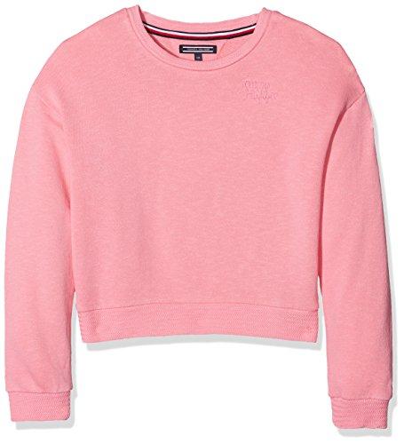 Tommy Hilfiger Mädchen AME Girls GMD CN HWK L/S Sweatshirt, Rosa (Confetti 601), 164 (Herstellergröße: 14)