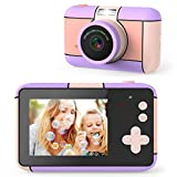 joylink Kinder Kamera, Kinder Digital Kamera 12MP 1080P HD Videokamera Digitalkamera Kinder und 32 GB TF-Karte Digitalkamera für Kinder (Violet)