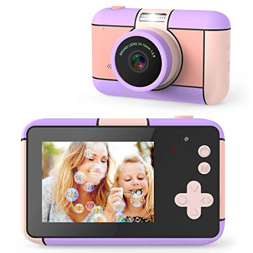 joylink Cámara para Niños, 2,4 Inch Pantalla Cámara de Fotos para Niños Cámara Selfie de 16MP 1080P HD Video Cámara Digital para Niños con Tarjeta TF de 32GB (Violeta)