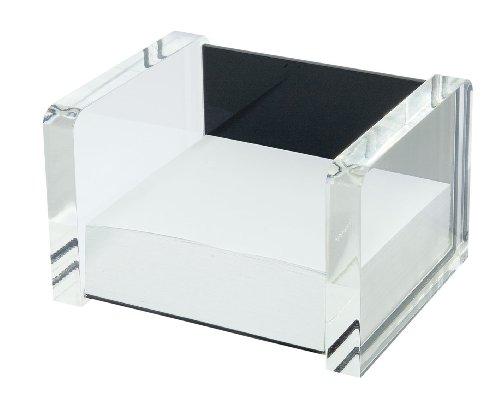 Wedo 607001 Acryl Zettelbox (Acryl Exklusiv) glasklar/schwarz