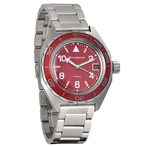 Vostok Komandirskie Automatic 24 Hour Dial Russian Military Wristwatch WR 200m (butterfly: 650841)