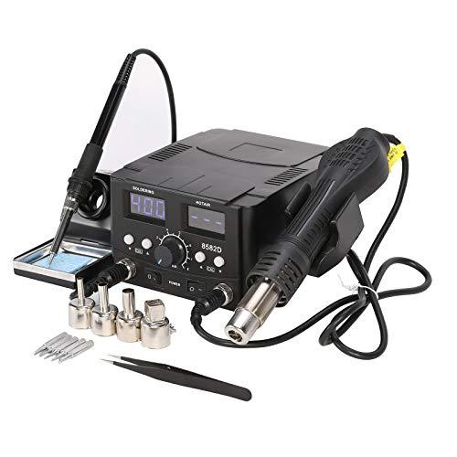 Z ZELUS 2 en 1 SMD Estación de Soldadura Digital 70W Soldador Electronica con 750W Pistola de Aire Caliente Kit del Soldador Electronica para Retrabajo Pantallas LED