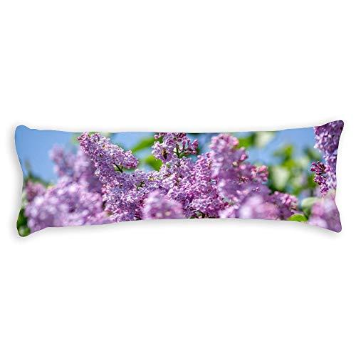 pealrich Fundas de almohada para pelo y piel de 40,6 x 60,9 cm, diseño de flores lilas para sofá, dormitorio, coche, etc.