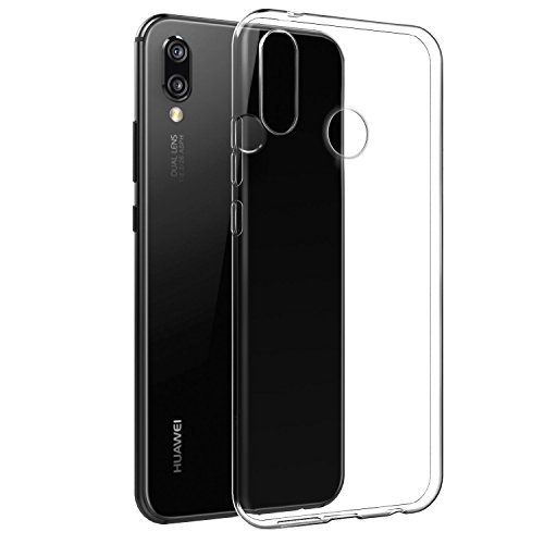 Huawei P20 Lite, Huawei P20 Lite CLEAR Case, [Fusion] [helder] [Silicone Case] [Slim] [Mobile Charm-] [Gel Case] [transparant] [Schokdemping] [compatibel met Huawei P20 Lite Screen Protector